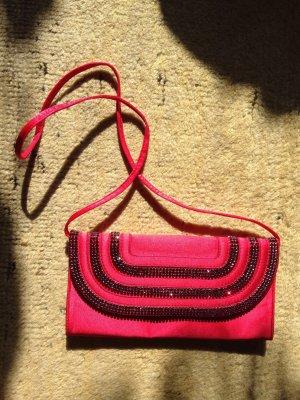 Original ESCADA Clutch Abendhandtasche swarovski rot/pink NEU