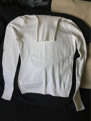 Esprit Jersey de cuello alto blanco puro