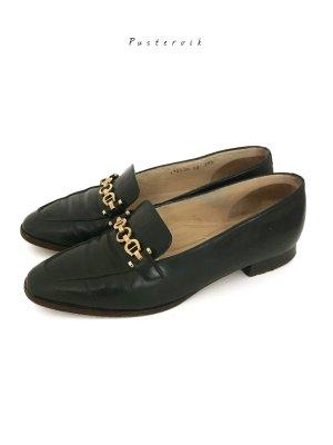 Original Etienne Aigner Vintage Lederschuhe Leder Loafer Slipper Halbschuhe