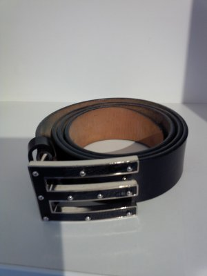 Etro Leather Belt black leather