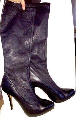 Original Exklusive Luxus echt Leder Stiefel von Escada schwarz 39,5 (40)