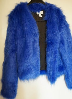 Original Fake Fur Blogger Jacket ! Nakd ! Jades sold out ! Blue !