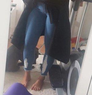 Pantalon taille haute bleuet