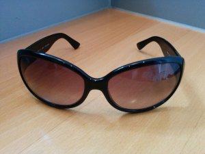 Original FENDI Designer Sonnenbrille Schwarz getöntes Verlaufglas Butterfly mit Etui