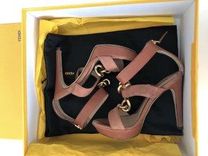 Fendi High Heel Sandal rose-gold-coloured-pink leather