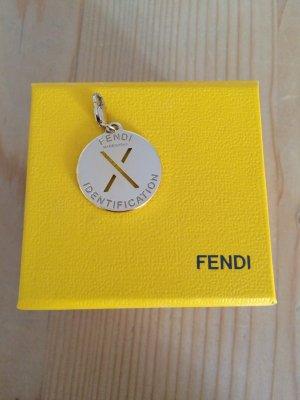 Original FENDI ID Charm Anhänger, vergoldet