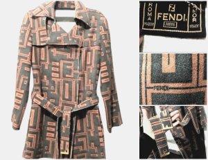 Original Fendi Woll Jacke ,Mantel Farbe Braun Gr.D36/I42 Unikat