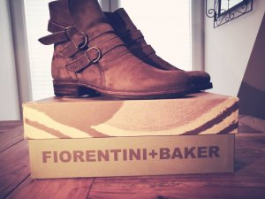 Original Fiorentini + Baker Biker-Boots / Stiefeletten / Stiefel ETERNITY