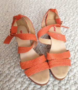 Original Flip*Flop Sandalette High Heels - orange rot - Gr. 39