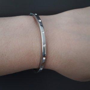 Original Fossil Armband,  Edelstahl mit Kristallen