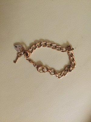 Original Fossil Armband mit ❤️- Schloss und Schlüssel
