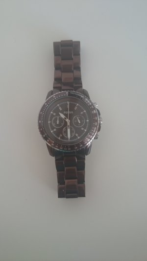 Fossil Watch With Metal Strap brown