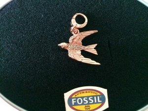 Fossil Charm gold-colored