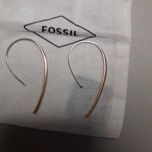Original Fossil Ohrringe aus Edelstahl