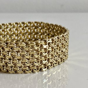 Original Friedrich Binder Gold Doublé Art Deco Armband Juwelierarbeit mit Meisterpunze
