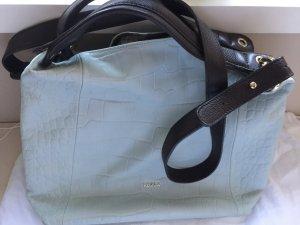 Original FURLA Handtasche in Mint mit Reptilienoptik