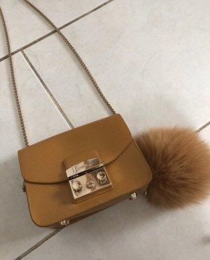 Original Furla kleine Tasche mit Bommel
