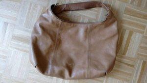 Original FURLA Leder Tasche mit richtig viel Platz braun camel Farbe