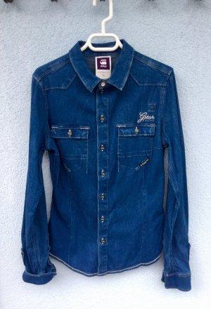 Gstar Jeans blouse blauw-neon blauw