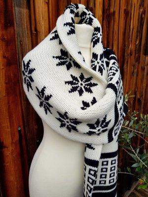 Original G-Star Schal hochwertig groß neu schwarz weiss Muster