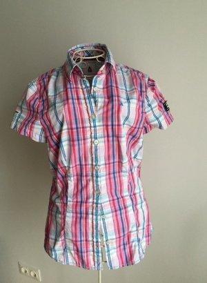 Original Gaastra Bluse - wie NEU - pink/weiß/bau kariert