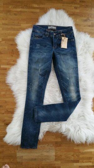 Galliano Skinny jeans donkerblauw