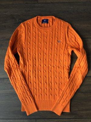 Gant Pull torsadé orange