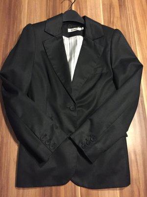 Original Gestuz Blazer Wolle schwarz Gr. 38 edel chic hoch qualitativ