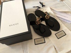 Gucci Teenslippers zwart