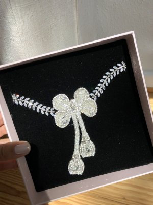 Giambattista valli Statement Necklace silver-colored