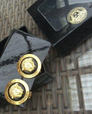 Original Gianni Versace Designer Ohrclipse signiert Ovp