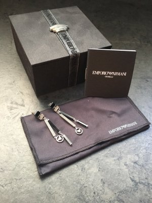 Armani Dangle silver-colored