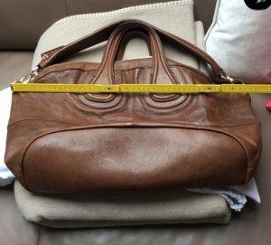 Original GIVENCHY Nightingale Leder handtasche Large Tasche Braun Shopper