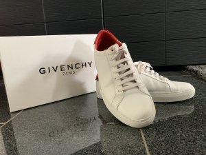 Givenchy Zapatilla brogue blanco-rojo Cuero