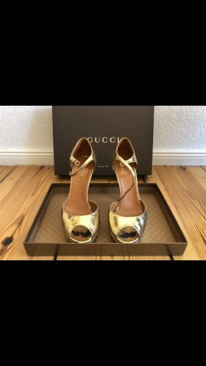 Original goldene Gucci High Heels