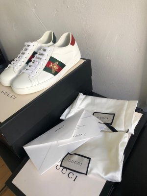 Gucci Skater Shoes white-red