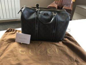 Gucci Handtas donkerbruin-grijs-bruin