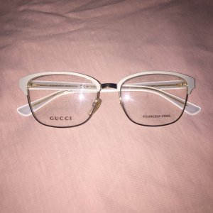 Original gucci Brille Blogger weiß Gold
