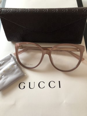 Gucci Bril stoffig roze