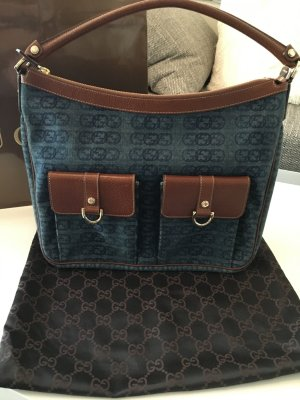 Original Gucci Denim Handtasche Tasche TOP!