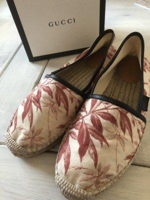 Gucci Slip-on Shoes cream-dark red