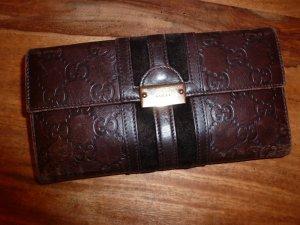 Original Gucci: Geldbörse aus braunem Leder mit eingeprägtem Gucci Zeichen-in gutem Zustand!