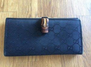 Original Gucci Geldbörse, schwarz, Guccissima Print, Bamboo COLLECTION