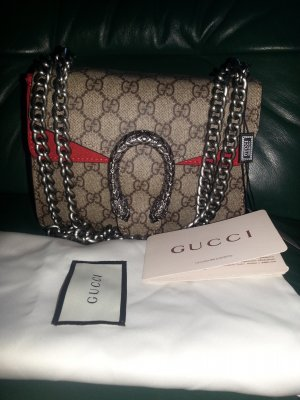 Original Gucci GG Dionysus Supreme Medium Canvas Logo Flap Umhängetasche