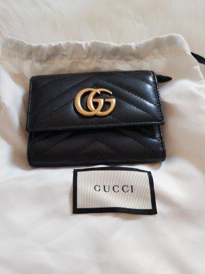 Original Gucci GG Marmont Geldbörse schwarz