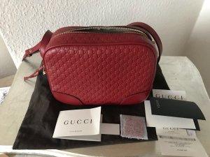 Original GUCCI Guccissima GG Leder rot Disco Bag Umhängetasche Crossbody NEU