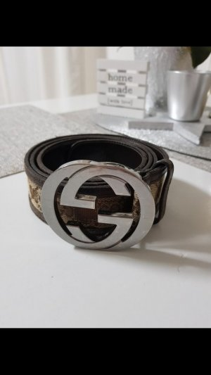 Gucci Leather Belt brown leather