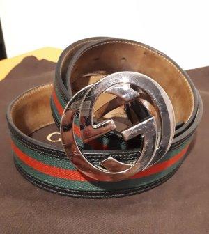 Original Gucci Gürtel GG mit silberner Schnalle