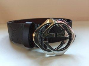 Original Gucci Gürtel in dunkel braun