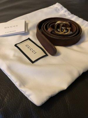 Gucci Ceinture en cuir brun cuir
